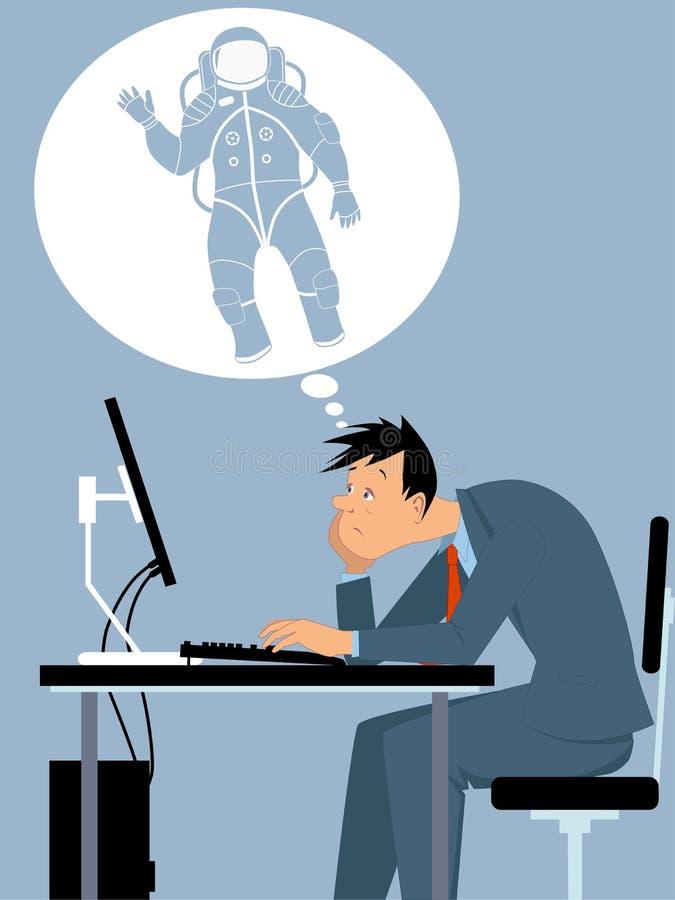 Jag önskar att vara en astronaut vektor illustrationer