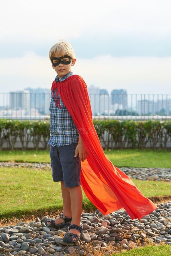 Jag önskar att vara superheroen royaltyfria bilder
