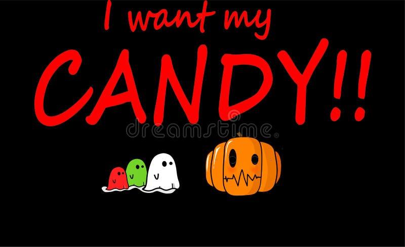 Jag önskar min godis av halloween arkivfoton