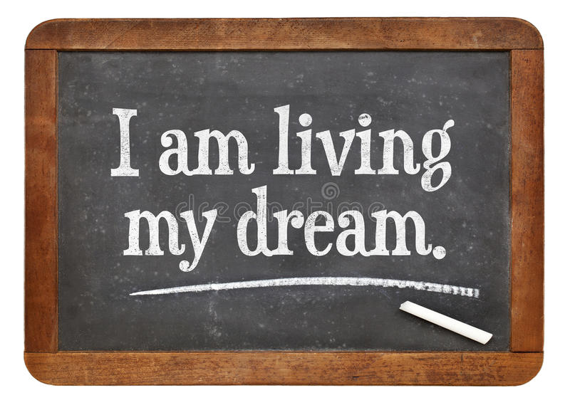 Jag bor min dröm arkivbild