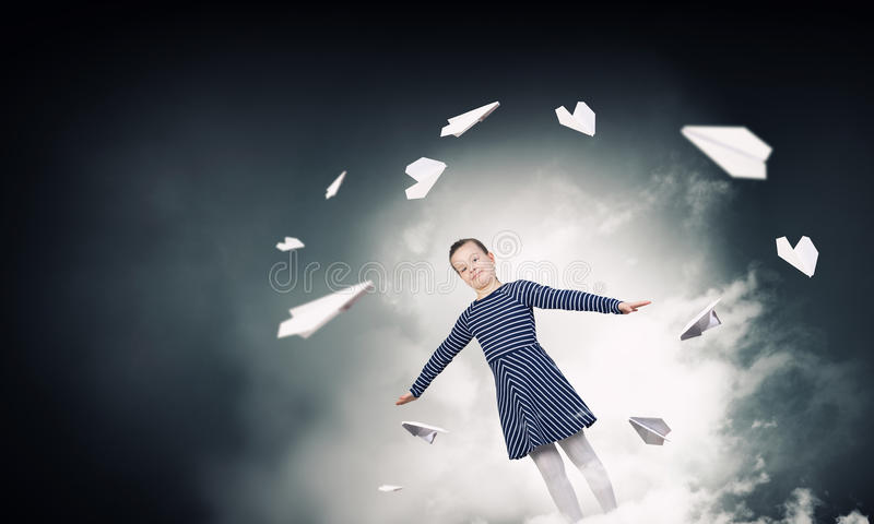 Jag drömmer mig kan flyga arkivfoto