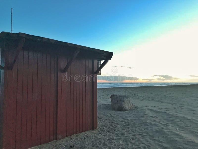 Jag gillar stranden arkivfoton