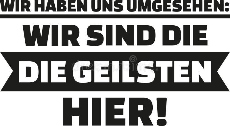 Jag hade en blick omkring, oss beträffande ` det mest sexiest på plats Tyskt säga för skjorta vektor illustrationer