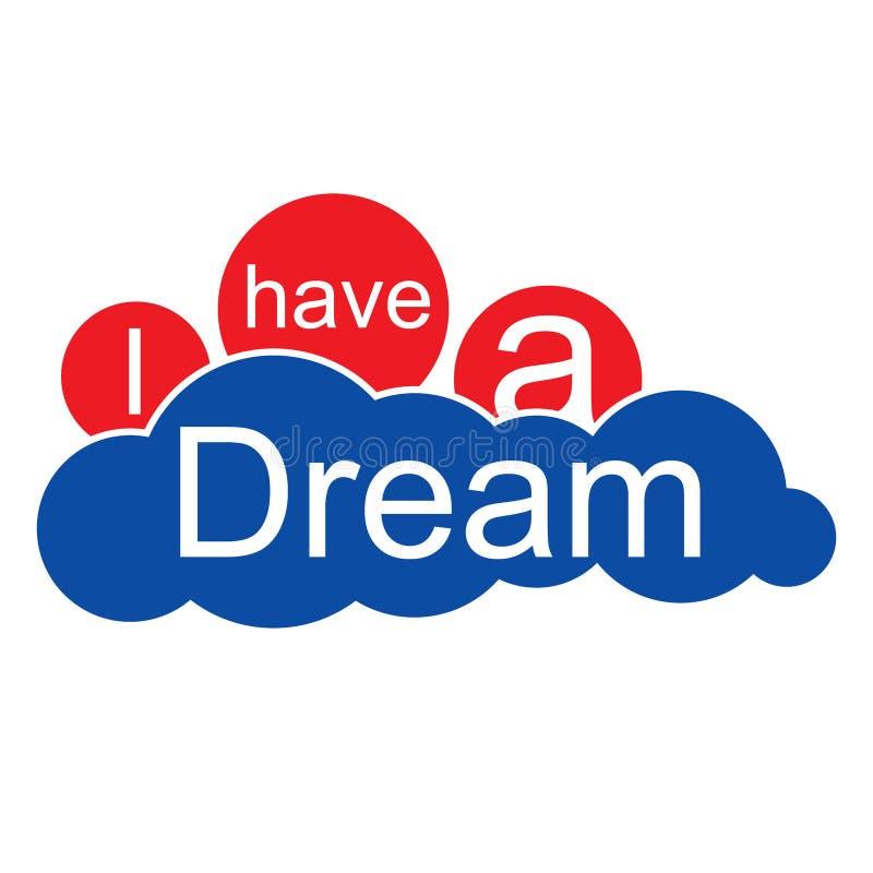 Jag har ett dröm- moln royaltyfri illustrationer
