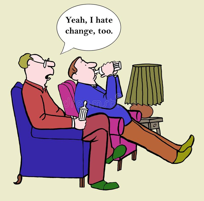 Jag hatar ändring stock illustrationer