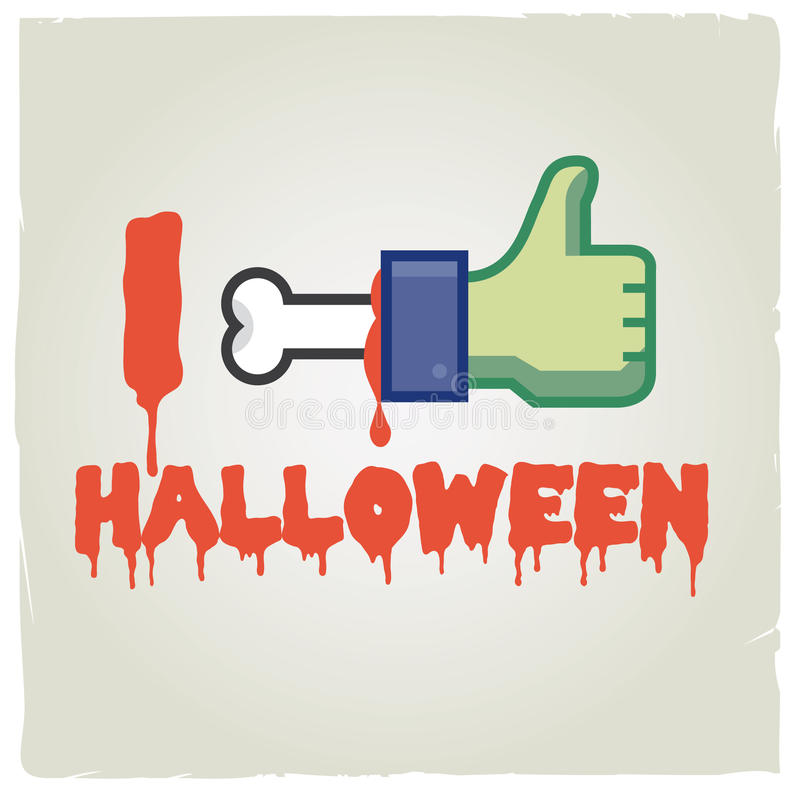 Jag like halloween vektor illustrationer