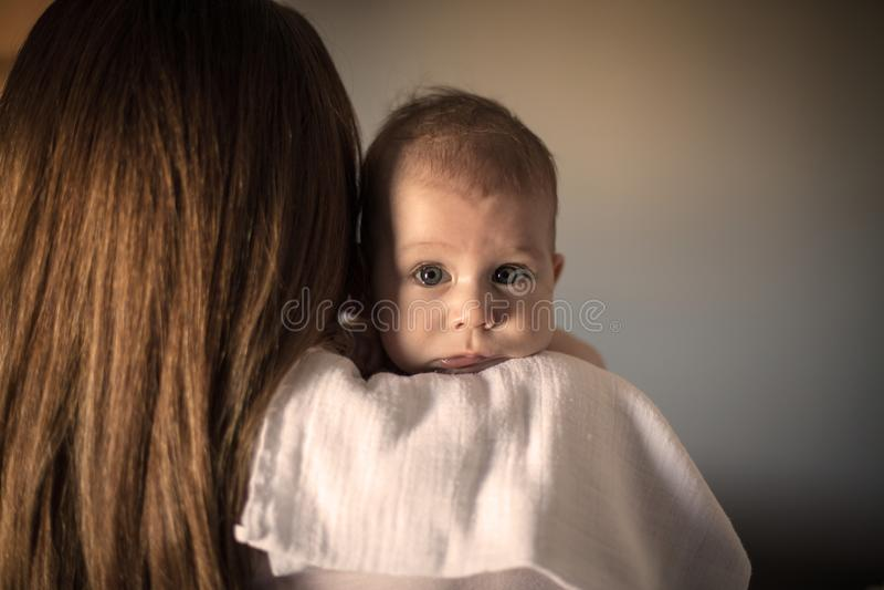 jag ?lskar den min mommyen royaltyfria foton