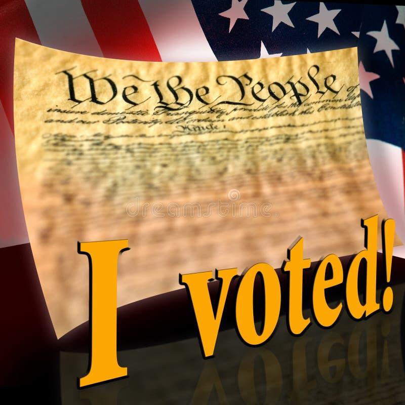 jag röstade stock illustrationer