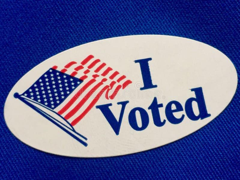 Jag röstade royaltyfria foton