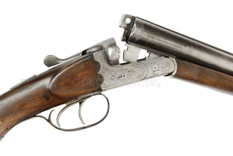 Jaga geväret på vit bakgrund royaltyfri bild