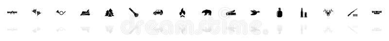 Jaga - plana vektorsymboler stock illustrationer