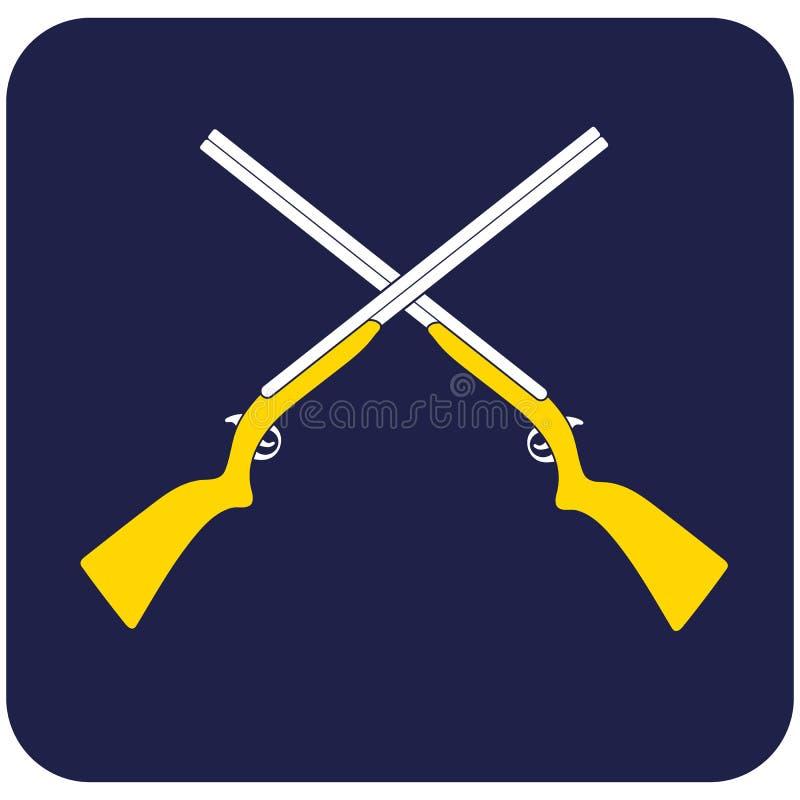 Jaga skottvapensymbolen royaltyfri illustrationer