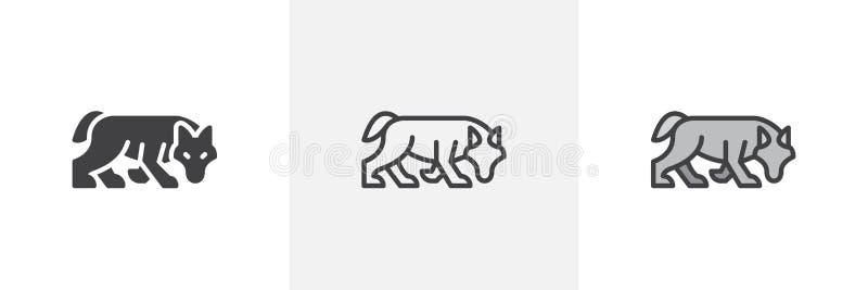 Jaga vargsymbolen vektor illustrationer