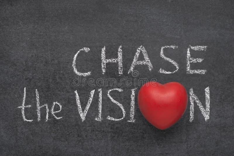 Jaga visionhjärtan arkivbild