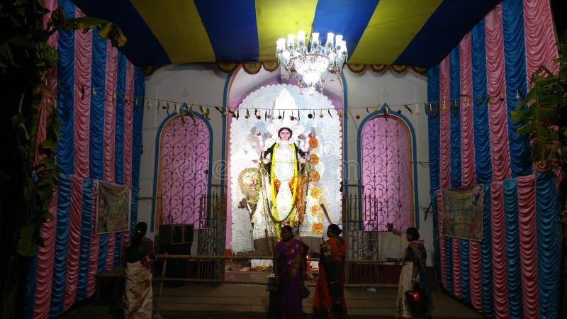 Jagadhatri Puja pandel 库存图片