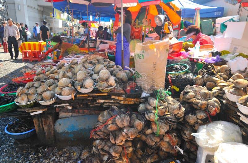 Jagalchi市场在釜山 免版税库存图片