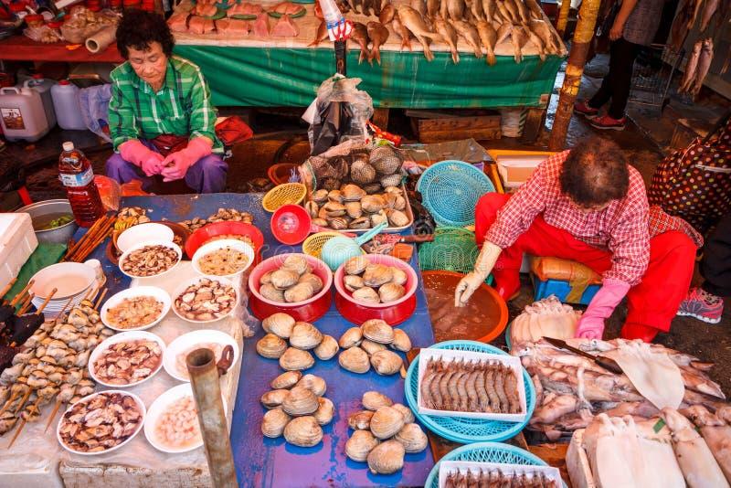 Jagalchi Fish Market, Busan, Korea royalty free stock photos