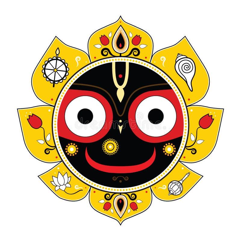 Jagannath. Indiański bóg wszechświat. royalty ilustracja