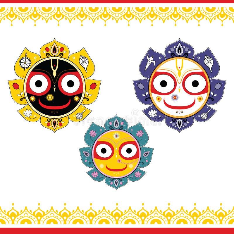 Jagannath Indische God van het Heelal royalty-vrije illustratie
