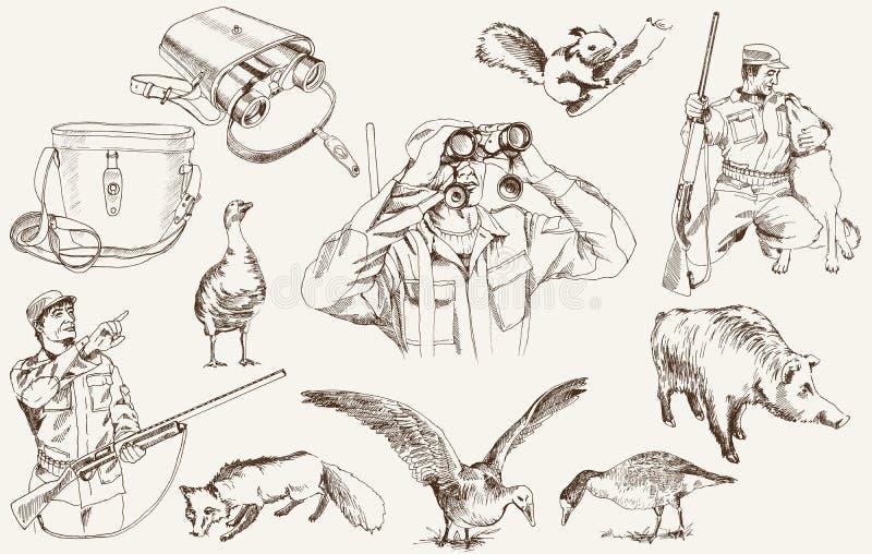 Jagd vektor abbildung
