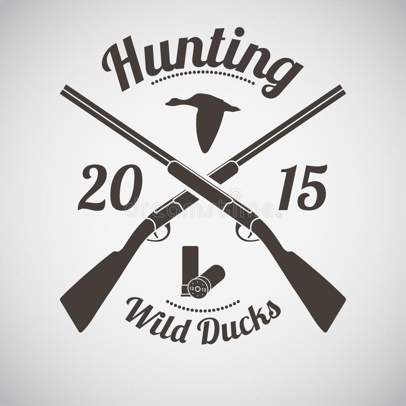 Jagd-Emblem stock abbildung