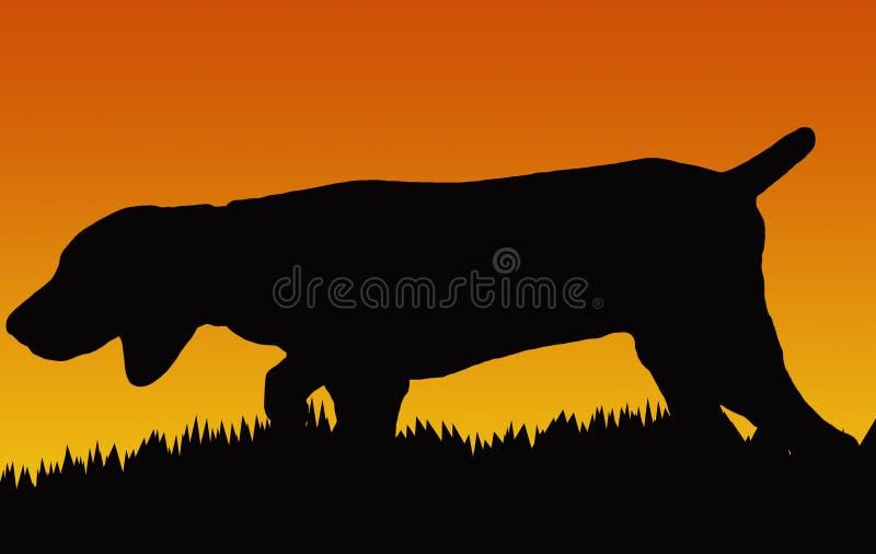 Jagd-Hund lizenzfreie abbildung