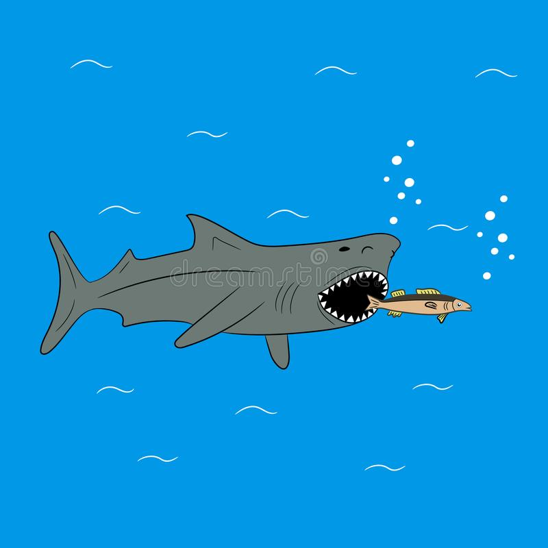 Jagdhaifisch Auch im corel abgehobenen Betrag lizenzfreie abbildung