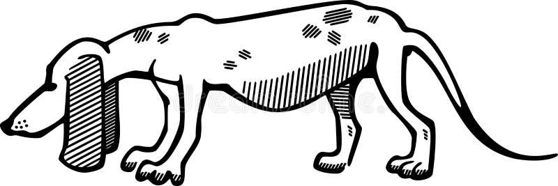 Jagdhund stock abbildung