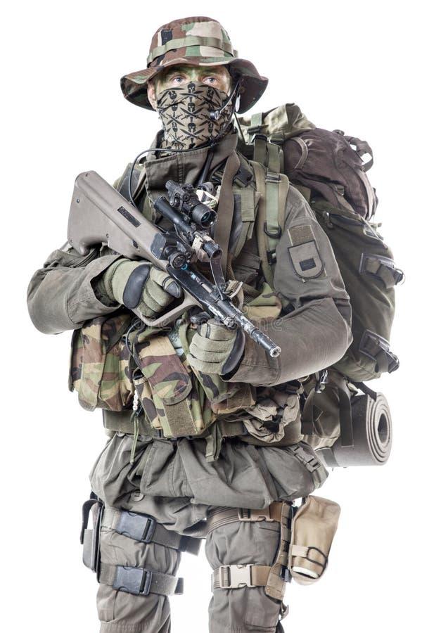 Jagdkommando战士奥地利特种部队 库存照片