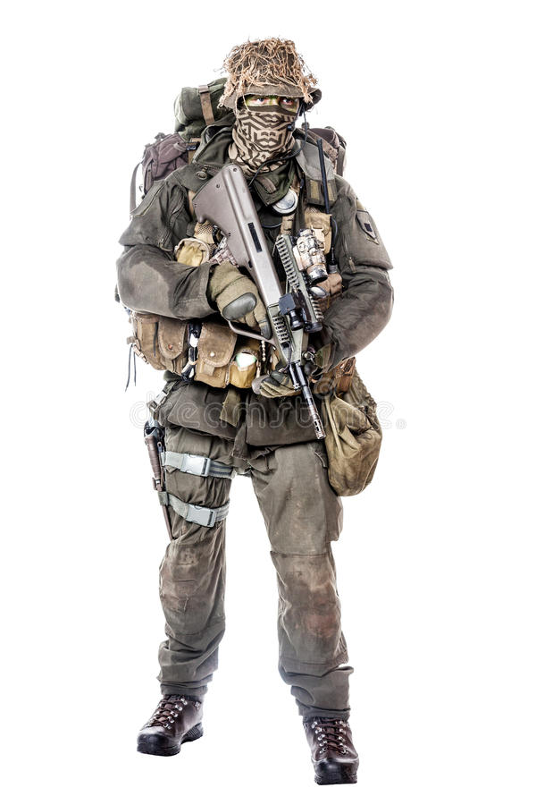 Jagdkommando żołnierza austriaka jednostki specjalne obraz stock