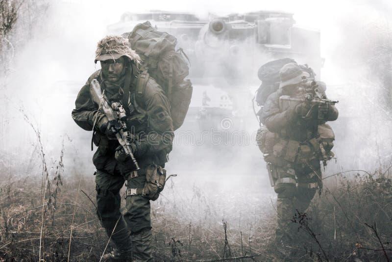 Jagdkommando-Soldaten Österreicherbesondere kräfte stockfotografie