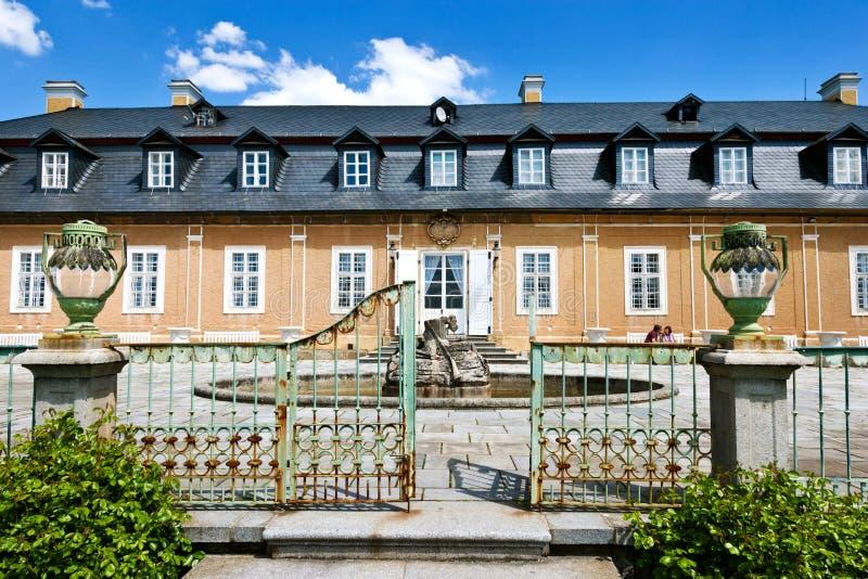 Jagdschloss in der klassischen Art Kozel errichtet im 18. Jahrhundert, Pilsen-Region, West-Böhmen, Tschechische Republik lizenzfreies stockbild