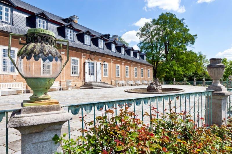 Jagdschloss in der klassischen Art Kozel errichtet im 18. Jahrhundert, Pilsen-Region, West-Böhmen, Tschechische Republik lizenzfreie stockfotos