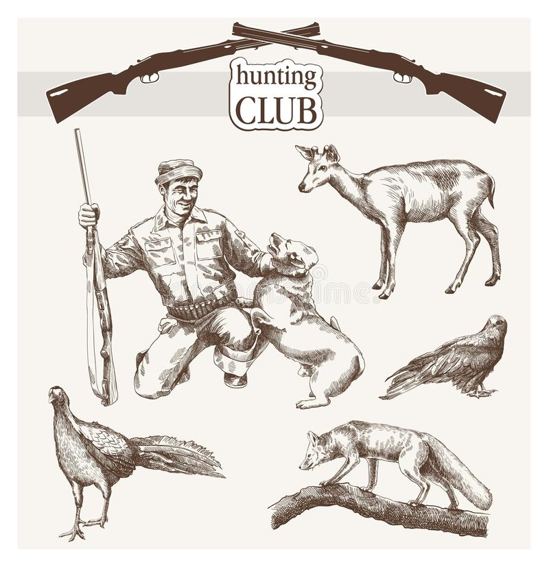 Jagdverein stock abbildung