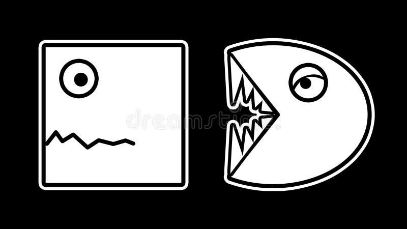 Jagen der lustigen Karikatur-Illustration stock abbildung