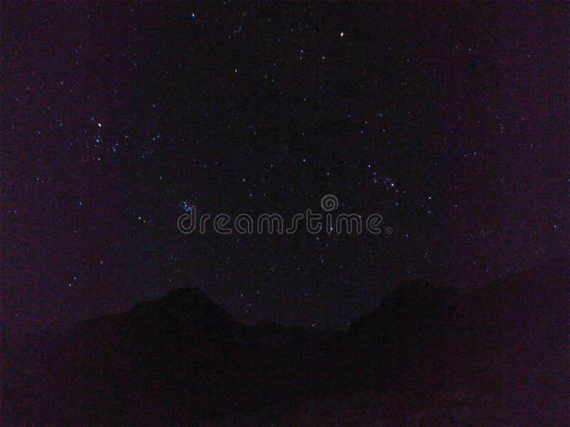 Jagen der Sterne in Tabo, Himachal Pradesh lizenzfreie stockfotos