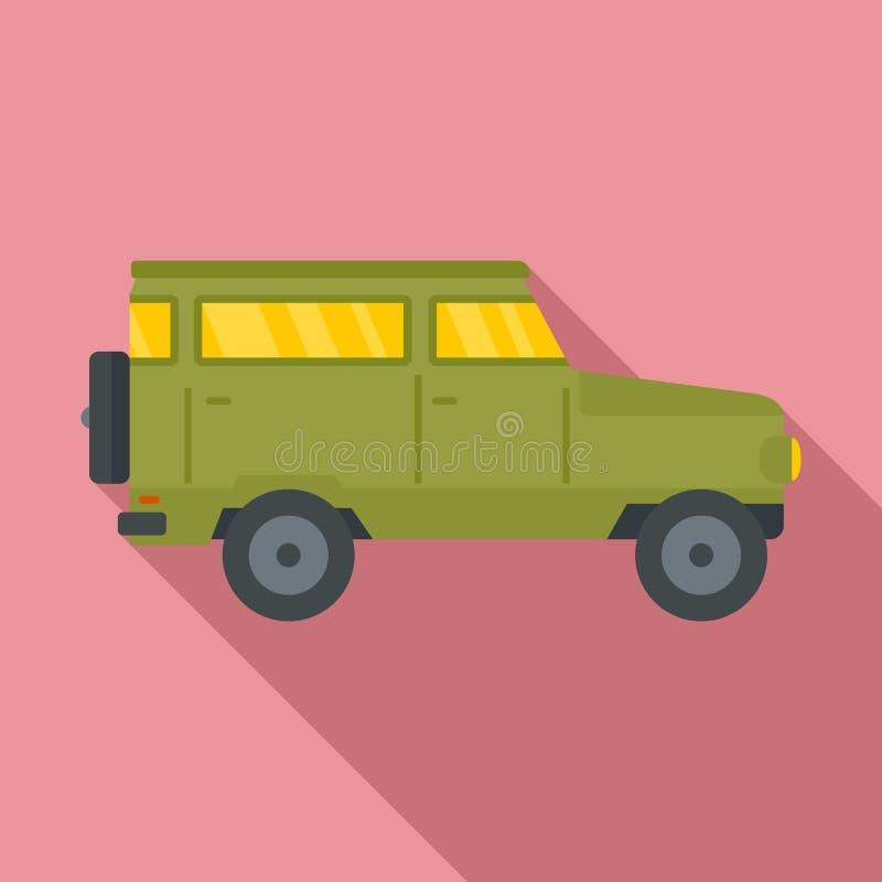 Jagend van het pictogram van de wegauto, vlakke stijl stock illustratie
