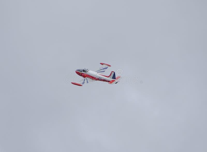 Jagende Jet Provost T 3A over Portrush stock foto