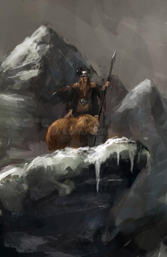 Jager stock illustratie