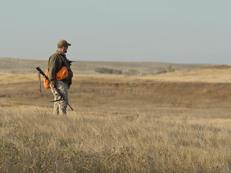 Jager op de prairie royalty-vrije stock foto's