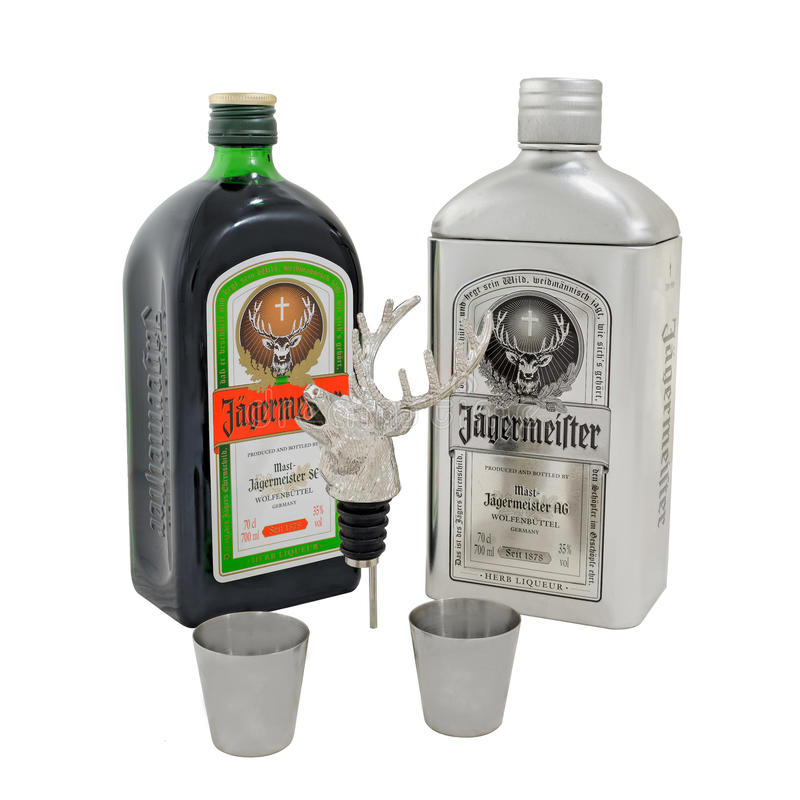 Free Jagermeister Gift Pack Stock Images - 91274414