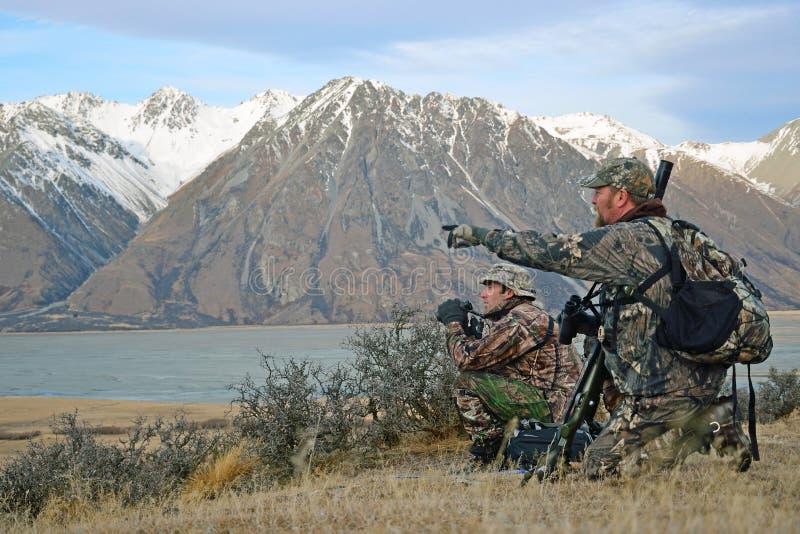 Jagers op het vooruitzicht royalty-vrije stock fotografie