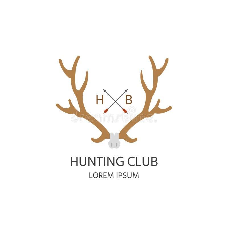 Jagersclub stock illustratie