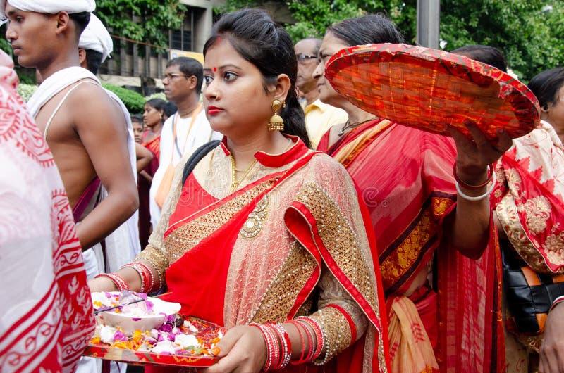 Jagganath Rath yatra i Kolkata, västra Bengal arkivbilder