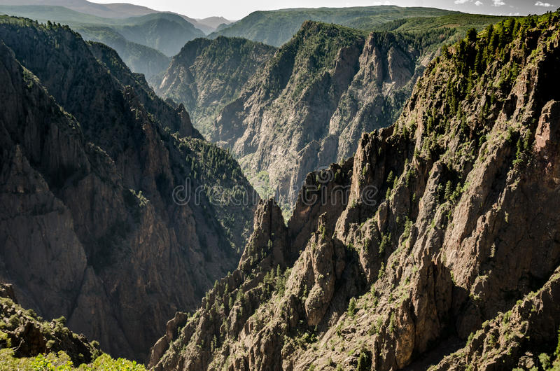 Jagged Cliffs of Black Canyon royalty free stock images