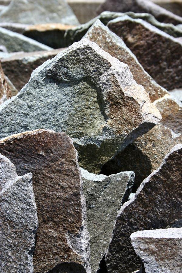 Jagged grunge stone slabs. Detail stock image