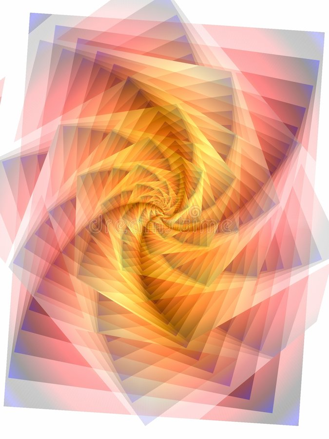 Jagged Lines Swirl Texture royalty free illustration