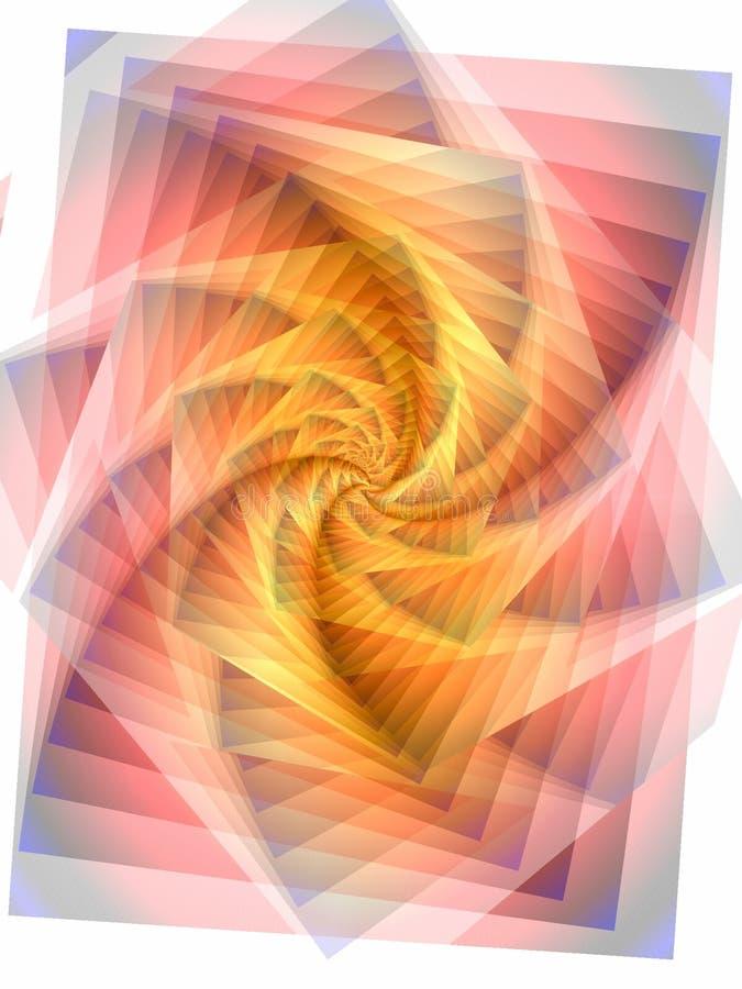 jagged linjer swirltextur royaltyfri illustrationer