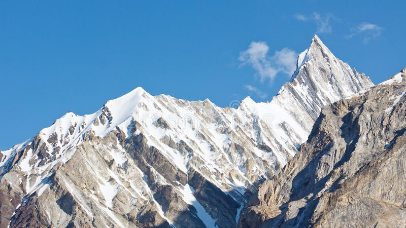 Jagged Mountain Ridge in the Karakorum Range. In Pakistan royalty free stock photography