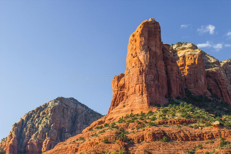 Jagged Red Rock Mountains stock photo